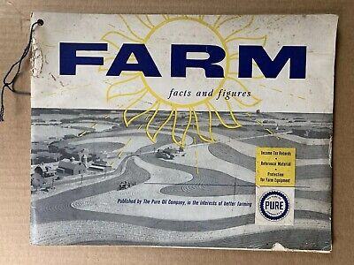 The Pure Oil Company 1953 Farm Facts And Figures Tax Ledger 64pgs Sales Booklet