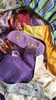 Lot Of Mixed Size Cloth Diapers S - One size Covers, Inserts, Prefolds Grobaby