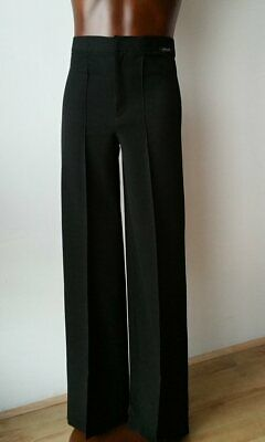 Entry Level Latin Stretchy Mens Dance Competition Trousers. Black