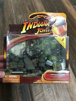 2008 Hasbro Indiana Jones Last Crusade German Soldier With Motorcycle New