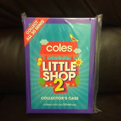 Coles Little Shop Mini Collectables 2=#=Folder/Case/Album Only-Original Plastic