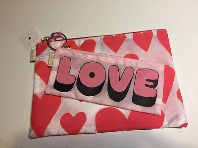 ban.do pencil pouch holder carry all duo LOVE HEARTS bando cute gift set