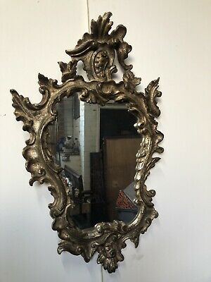 Antique Hand Carved Mirror