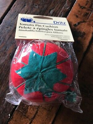 Vintage Style Dritz Tomato Pincushion W/Strawberry Emery New In Pack-3111