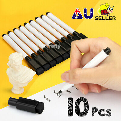 Whiteboard Marker Pens White Board Dry-Erase Easy Wipe Bullet Tip Gifts