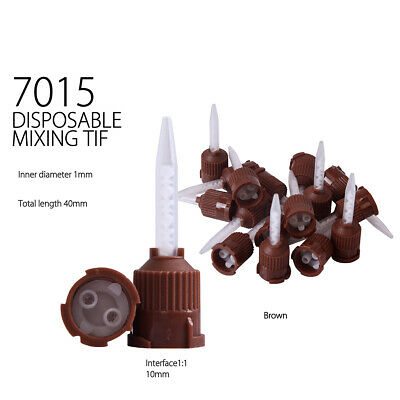 Dental Impression Mixing Tips Silicone Rubber Film - 7015 -Brown(Taper)- 50pcs