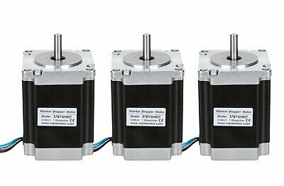 57*57*76mm Wantai 3PCS Nema23 Stepper Motor  3A 270oz-in 8mm Shaft CNC