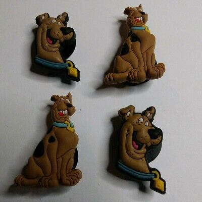 Scooby Doo 4pc SHOE CHARMS LOT Fits CROC SHOES & JIBBITZ BRACELETS