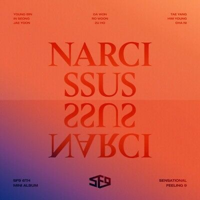 SF9 [Narcissus] 6th Mini Album TEMPTATION VER CD+Booklet+2 Card+F.Poster K-POP