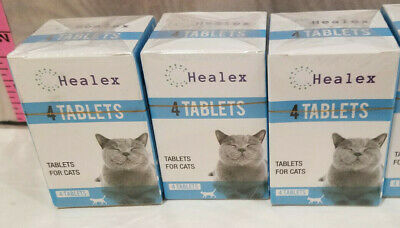 Healex Cat Dewormer Parasite Killer 3 Box Lot 4 Tablets Each 12 Tablet Total