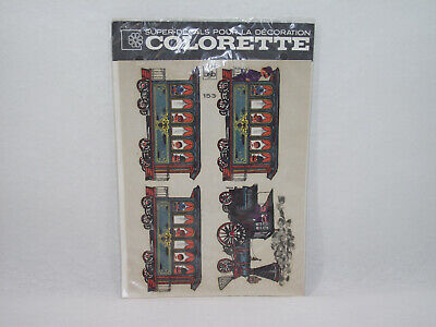 Planche Vintage décalcomanie Train COLORETTE bsb 153 Super-Decals décoration
