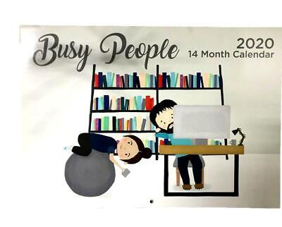 2020 Calendar Rectangle Wall Calendar 14 Months Busy People Family Planner