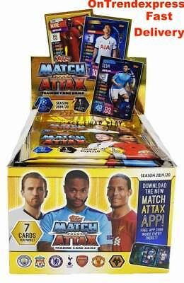 2019 2020 Match Attax UEFA Champions League Soccer Trading Cards Box 50 Packs