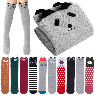 Over Knee Socks for Children Cat Bear Thigh High Socks Cute Cartoon Stockings