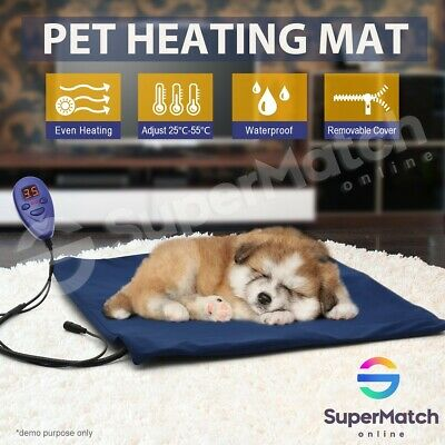 Electric Heated Heat Cat Pet Dog Pad Mat Thermal Protection 50x50cm Waterproof