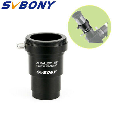 1.25'' Barlow Lens(2X)SVBONY MC+ M42x0.75 Thread Camera Connect Interface HOT