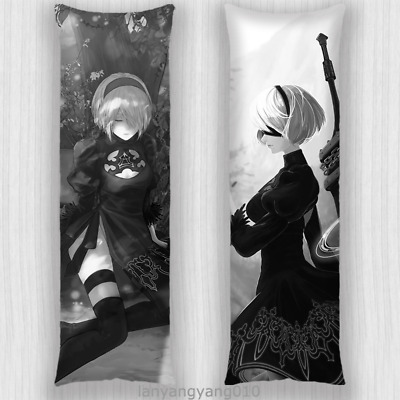 Anime NieR:Automata YoRHa No.2 Type B 2B Dakimakura Hug Body Pillow Case Cover