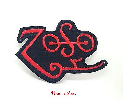 ZOSO Led Zeppelin Red T Shirt Iron Sew On Embroidered Patch appliqué #866
