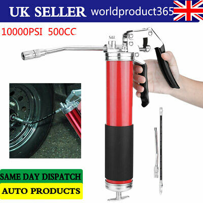 Heavy Duty Professional Grease Gun 500CC Manual Grease Gun 10000 PSI Portable UK