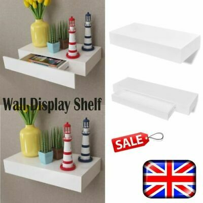 Space Saving Floating Wall Mount Shelves Display MDF Shelf Book Storage DVD UK