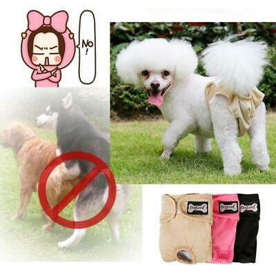 3 PCS WASHABLE Female Dog Cat Diapers Sanitary Pants LINED Padded Small Medium