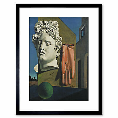 Painting De Chirico The Song Of Love Small Framed Art Print 9x7 Inch