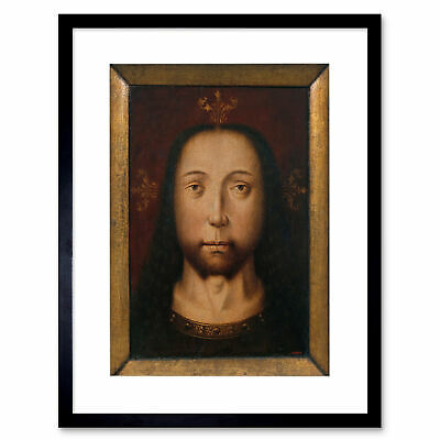 Painting Bouts (Attr.) Holy Countenance Framed Art Print 12x16 Inch