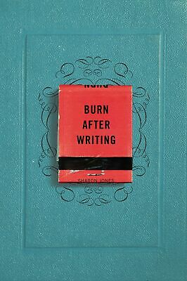 Burn After Writing by Sharon Jones Romance Fiction Writing Reference Paperback