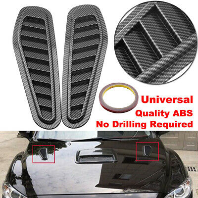 Bonnet Hood Engine Vent Grille Grill Louvered Scoop Insert Kit For Hyundai Kia