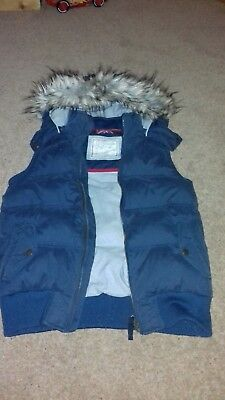 Girls/Ladies Blue Bodywarmer/Gilet By Fat Face, Size 12, In V G Used Condition