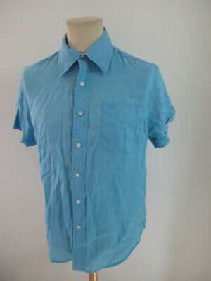 Shirt Linen Tommy Hilfiger Blue Size L to - 63%