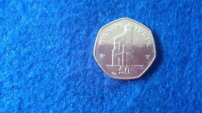 50p FIFTY PENCE COIN ISLE OF MAN MILNERS TOWER 2014