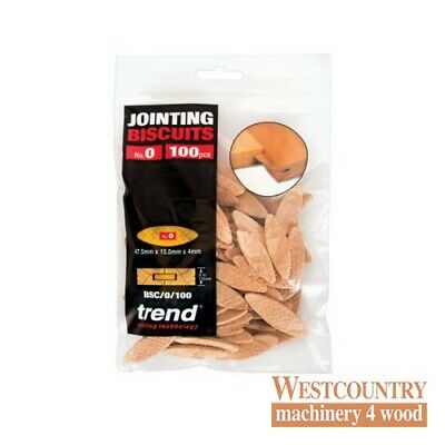 TREND BSC/0/100 BISCUITS for Biscuit Jointer Size 0 pack of 100