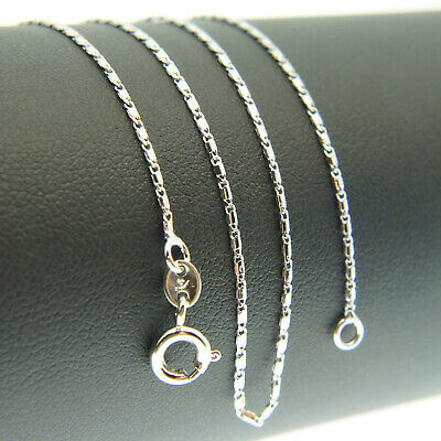 18k White Gold F 46cm 18'' gucci-Link Necklace 2mm Solid Neck Chain AUS MADE