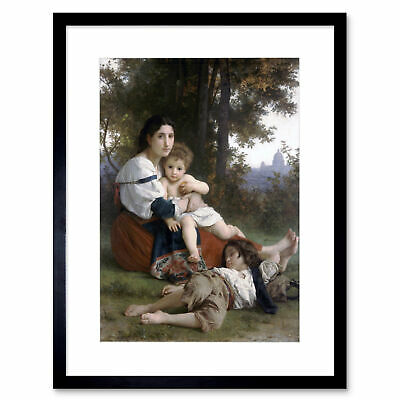 Painting Bouguereau Rest Old Master Framed Print 12x16 Inch