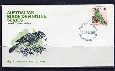 1980 Australia Birds Definitive's 18c Catbird WCS First Day Cover, Mint Cond