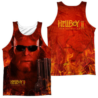 Hellboy Film Grande Rosso 2-Sided Sublimata Stampa Integrale Poly Canottiera