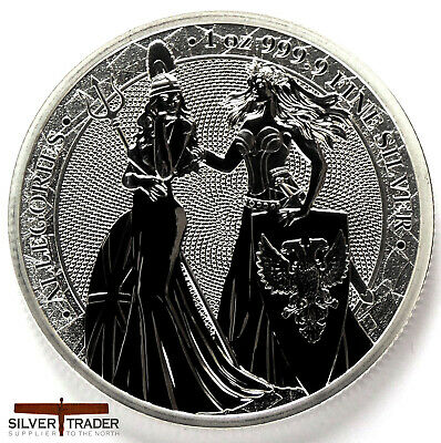 2019 Allegories Germania & Britannia 1oz Silver Bullion Round