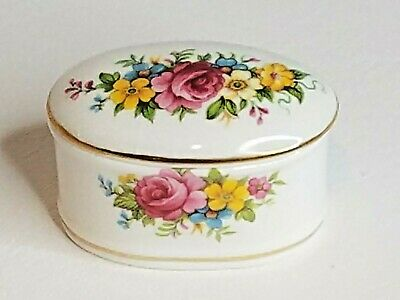 Lysander, Fine Bone China, Lidded Oval Trinket Box, Made in England