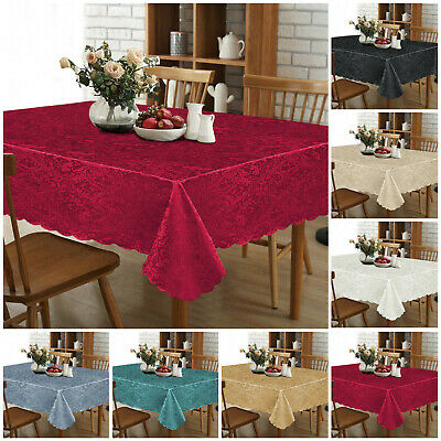 Modern Large Rectangle Round Damask Table Cloth Cover Napkin Table Cloths Runner