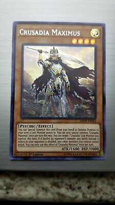 Crusadia Maximus MP19-EN081 1st Edition Secret Rare Mint Yugioh
