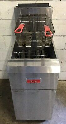 Commercial Fish & Chips Cafe Restaurant Thor Twin Basket Deep Fryer  Lpg