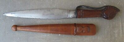 Antique African Sudanese Tribal Dagger with Wood Sheath