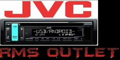 JVC KD-R491 CD with Front USB, Aux, FLAC & Variable Colour Display Single Din