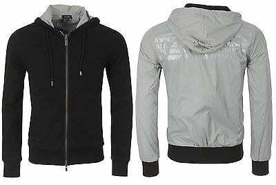 NWT $245 Armani Jeans Reversible Hooded Lightweight Slim Fit Jacket Size XL