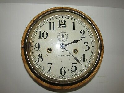 Antique Seth Thomas No.10 Marine Wall Clock Key-wind For Project/Parts