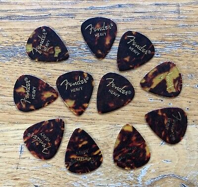 12 x Heavy Fender Tortoise Shell Effect Guitar Picks
