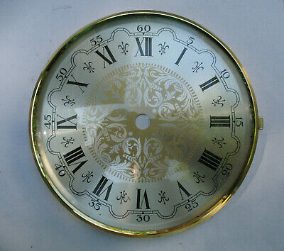Clock Parts Repair Face Only Roman Numerals Convex Glass Bezel