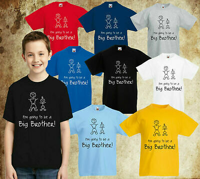 I'm Going To Be A Big Brother T-Shirt, Siblings Birthday Gift Kids Tee Top