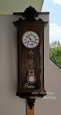 Japy Frères 1870 Antique FRENCH Wall Clock Antik Wanduhr Ancienne Horloge Murale